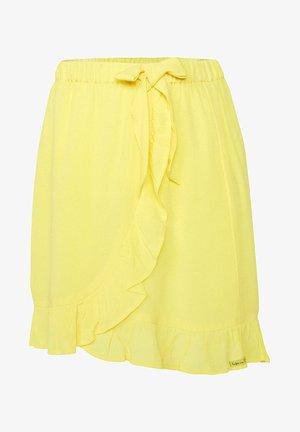 Wrap skirt - bright yellow