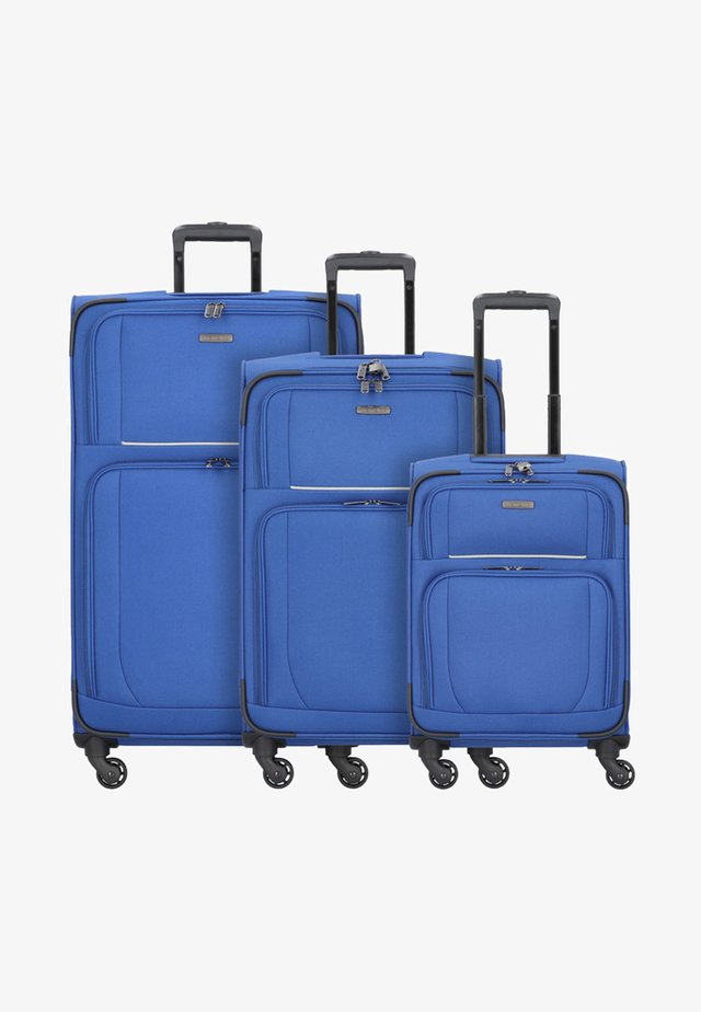 3  PACK - Luggage set - blue