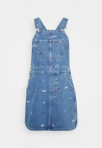 Tommy Jeans - CLASSIC DUNGAREE DRESS  - Denim dress - star critter blue rigid - 5