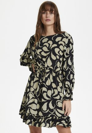 SLANIKA  - Day dress - black abstract print
