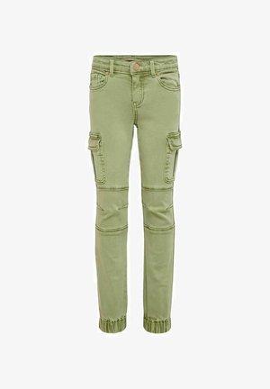 Zúžené džíny - oil green