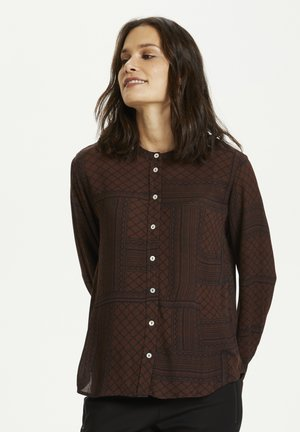 KAOTELIA - Blouse - brown/dark blue