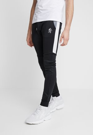 LOMBARDI TRACKSUIT BOTTOMS - Trainingsbroek - black/charcoal marl