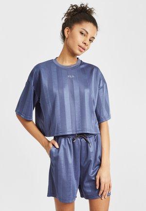 Print T-shirt - crown blue