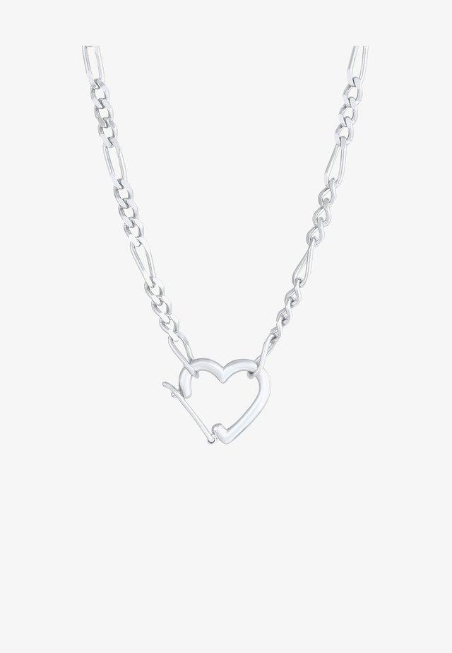 HERZ  - Halsband - silber