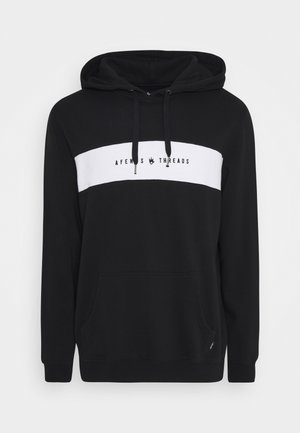 PANEL PULL ON HOOD - Hoodie - black