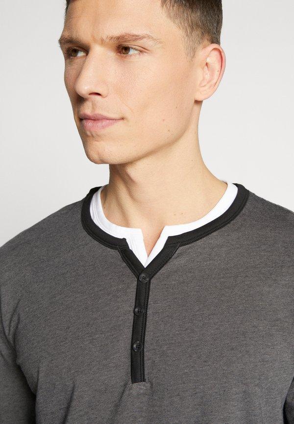 Esprit Bluzka z długim rękawem - black/czarny Odzież Męska CVHR