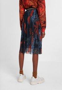 Desigual - FAL_VIRGINIE - A-line skirt - blue - 2