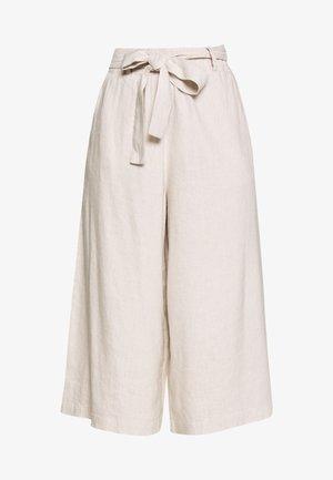 LAUREN CULOTTE - Trousers - beige melange
