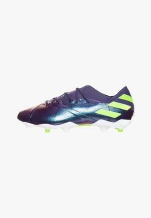 NEMEZIZ MESSI - Moulded stud football boots - tech indigo / signal green / glow purple