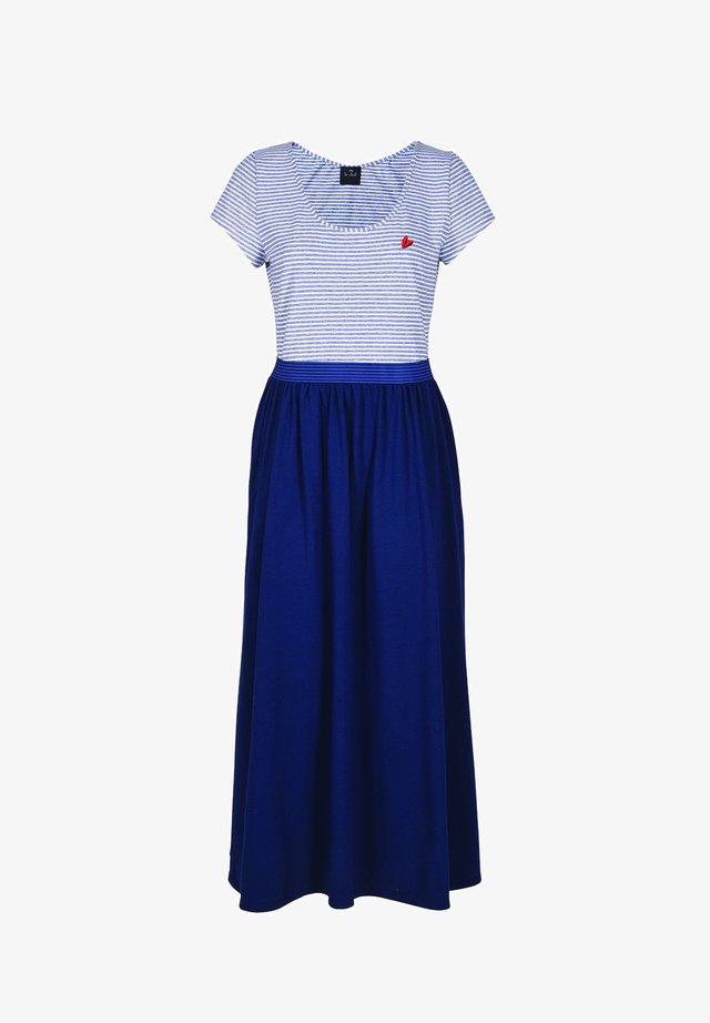 Vapaa-ajan mekko - bleu blanc
