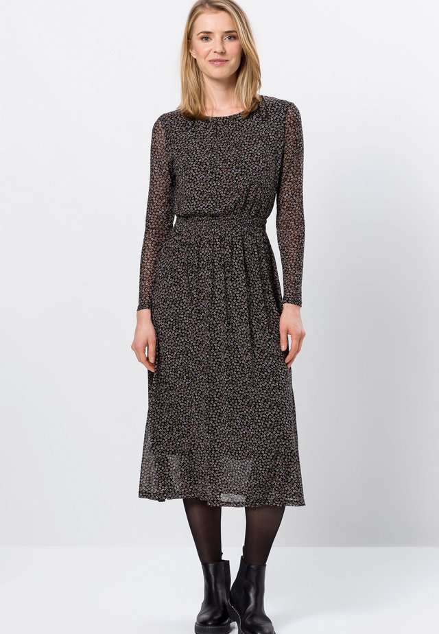 Korte jurk - dark basil