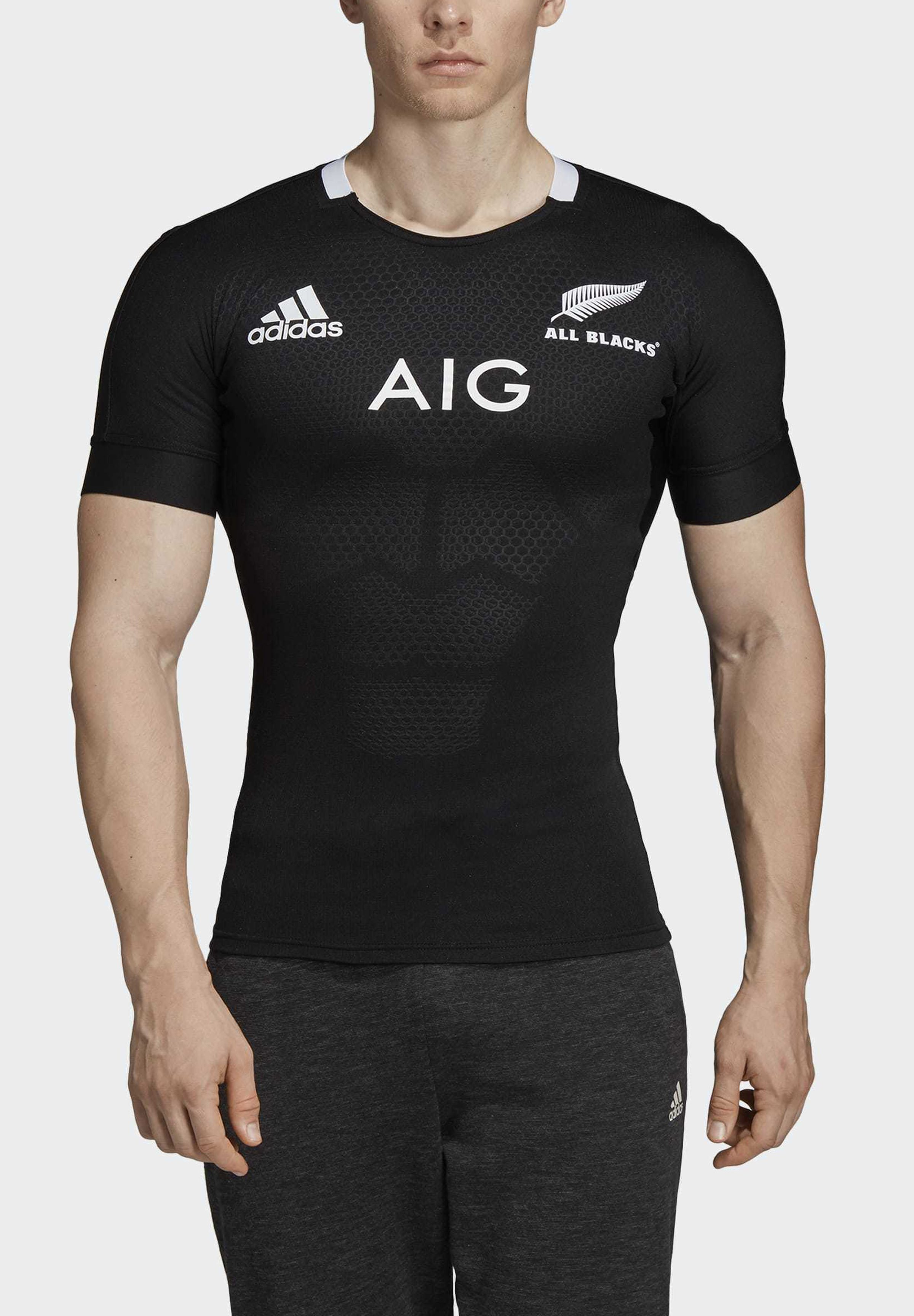 adidas Performance 2019-07-01 ALL BLACKS HOME PERFORMANCE JERSEY - T-shirts med print - black