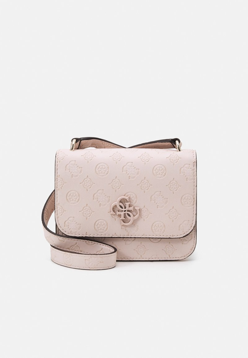 Guess - NOELLE MINI CROSSBODY FLAP - Across body bag - blush