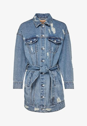 Short coat - medium blue denim