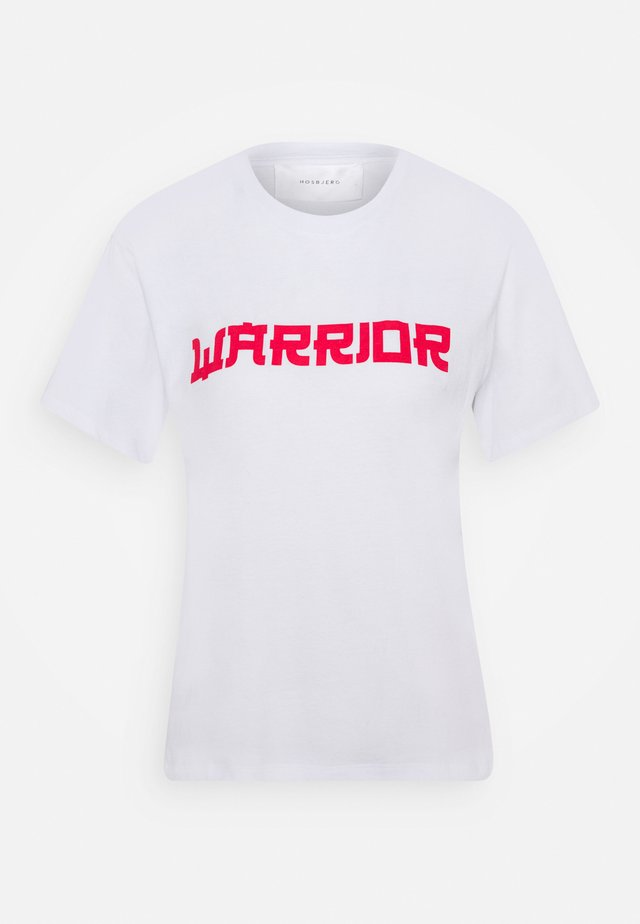 TABBY WARRIOR - Print T-shirt - white