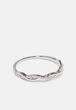 NATURAL DIAMOND RING 0.07CARAT CROSS OVER DIAMOND RINGS 9KT WHITE GOLD DIAMOND JEWELLERY GIFTS FOR WOMENS - Ring - white gold