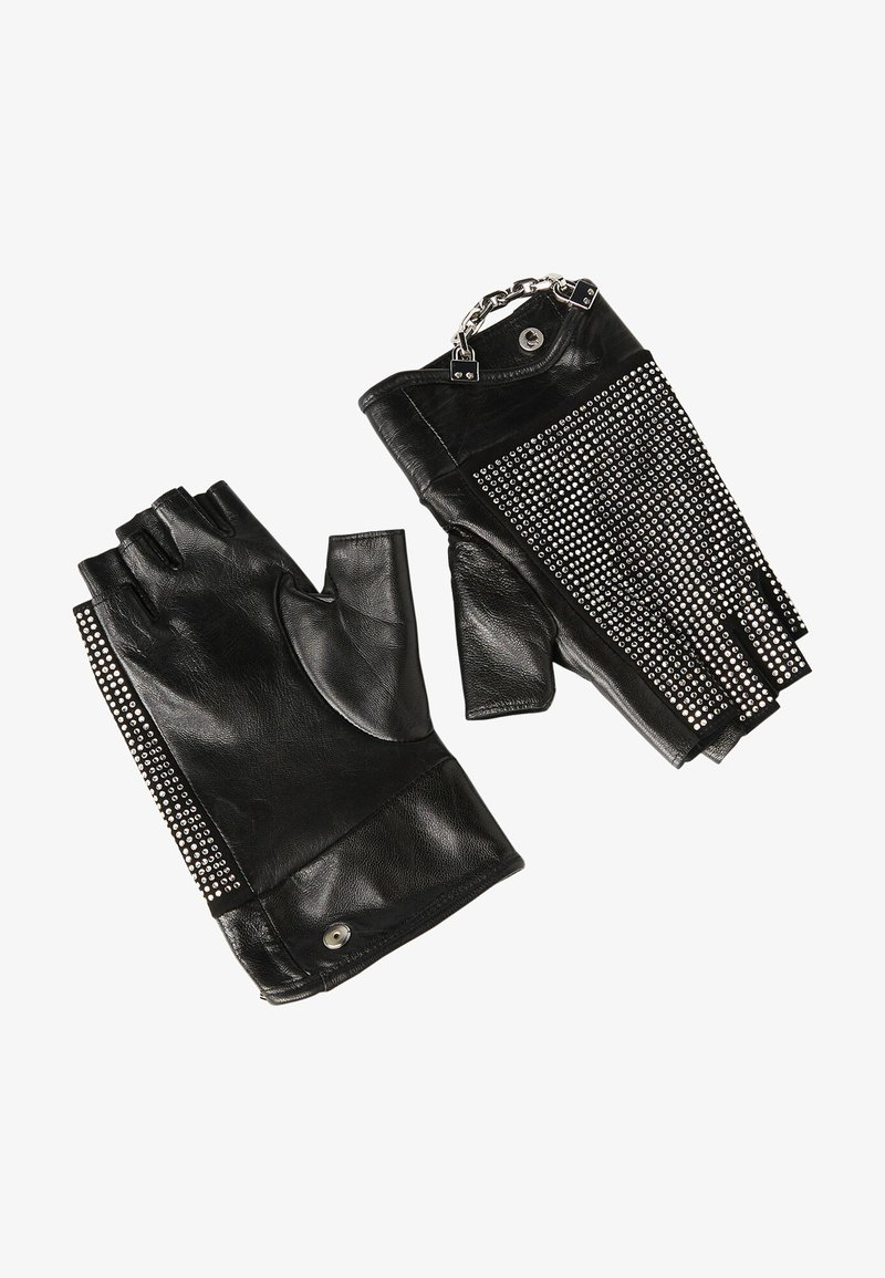KARL LAGERFELD - Fingerless gloves - a black/nick