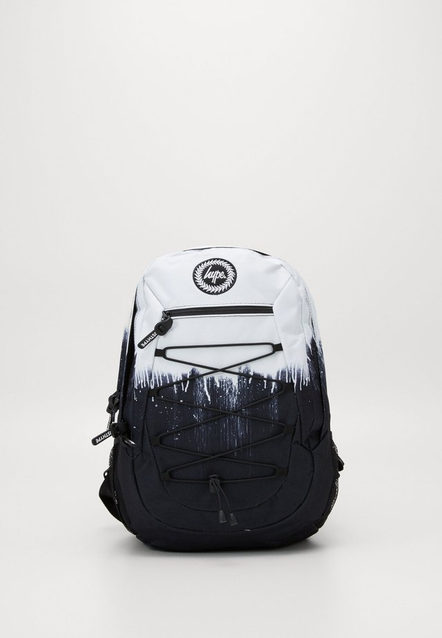 MAXI BACKPACK DRIPS - Rucksack - black/white