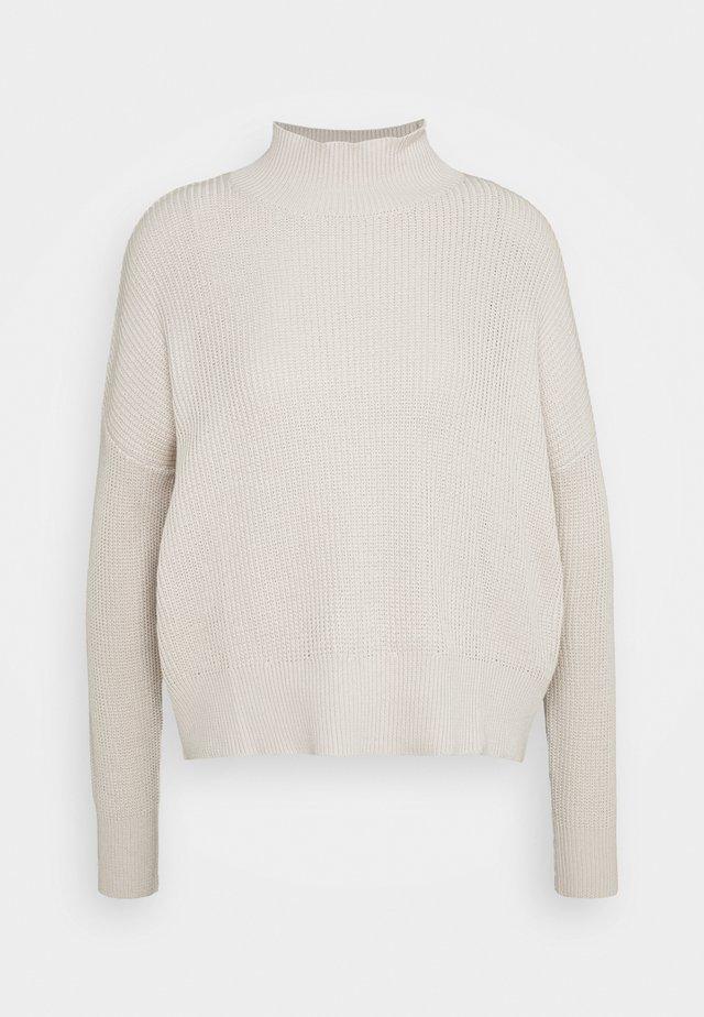 STEP COLLAR - Stickad tröja - beige