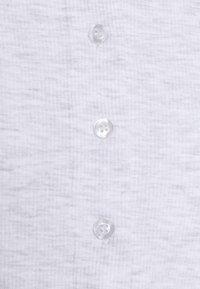 Cotton On - CORI CROP BUTTON THROUGH - Kardigan - silver marle - 2