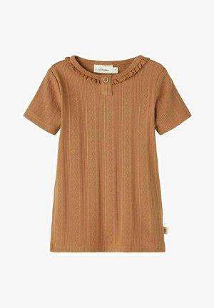 Print T-shirt - tobacco brown