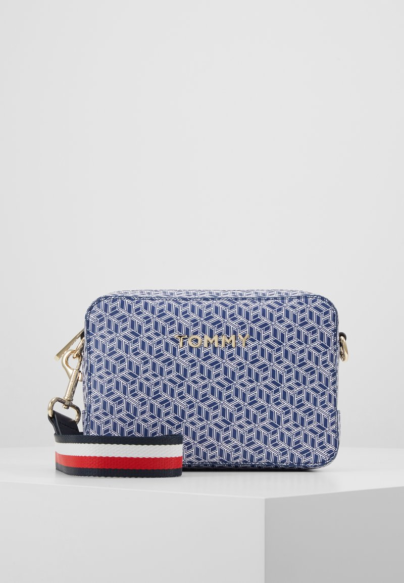 Tommy Hilfiger - ICONIC CAMERA BAG MONOGRAM - Across body bag - blue