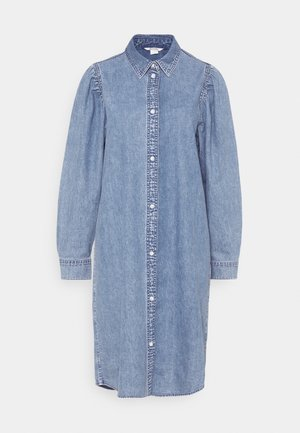 ELENA DRESS - Denim dress - blue medium dusty
