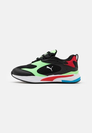 RS-FAST - Matalavartiset tennarit - black/elektro green/high risk red