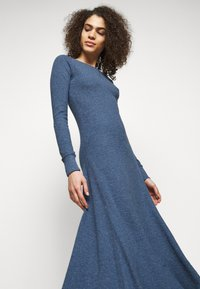 Polo Ralph Lauren - WAFFLE - Jumper dress - river blue heather - 3