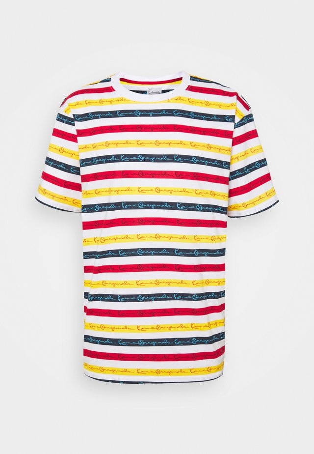 ORIGINALS STRIPE TEE - Camiseta estampada - white