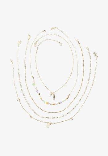 5ER-SET - Necklace - yellow