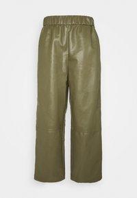 Monki - CELESTE TROUSERS - Trousers - khaki - 4