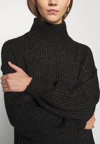 Noisy May - NMROBINA HIGH NECK DRESS - Strikket kjole - dark grey melange - 5