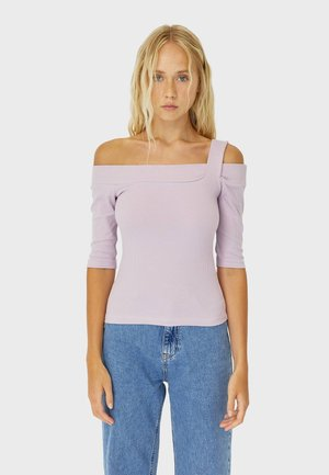 ASYMMETRISCHES - Long sleeved top - purple