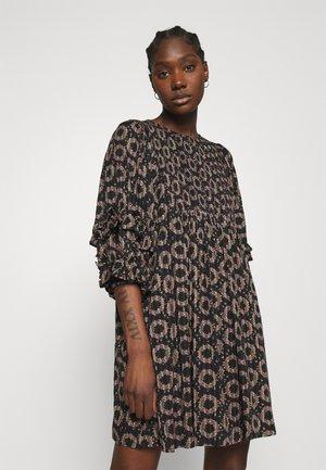 STRIPES SHIFT DRESS - Day dress - black