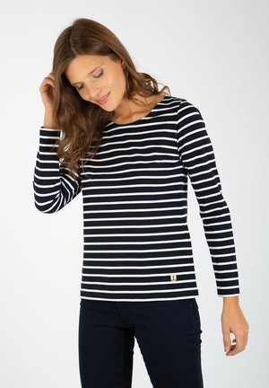 PLOZEVET - Long sleeved top - rich navy/blanc
