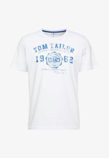 LOGO TEE - T-shirt med print - white