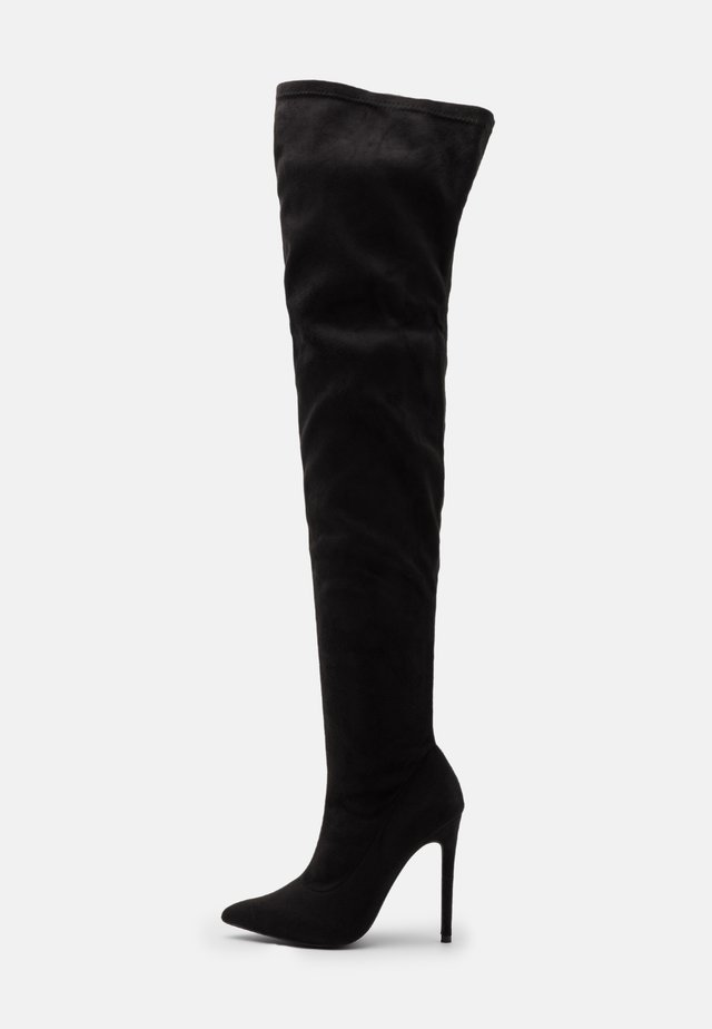 STILETTO LONG BOOT - Botas mosqueteras - black