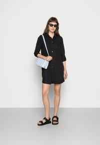 Vero Moda - VMSILLA SHORT DRESS - Shirt dress - black - 2