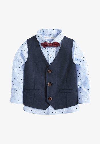 SET - Suit waistcoat - blue