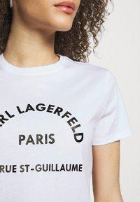 KARL LAGERFELD - ADDRESS LOGO TEE - Print T-shirt - white - 3