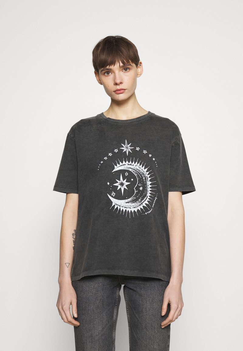 BDG Urban Outfitters - ETERNAL MOON TEE - Print T-shirt - washed grey