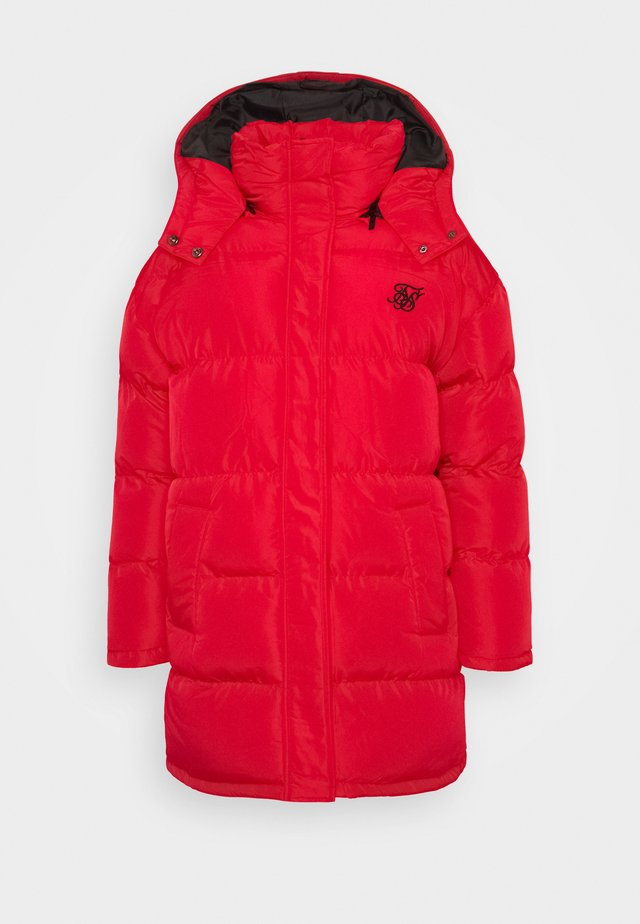LONGLINE PADDED JACKET - Cappotto invernale - red