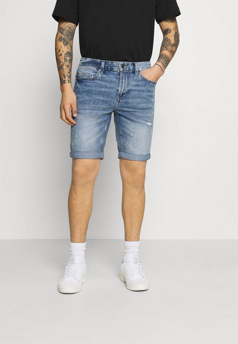 Only & Sons - ONSPLY LIFE BLUE  - Denim shorts - blue denim