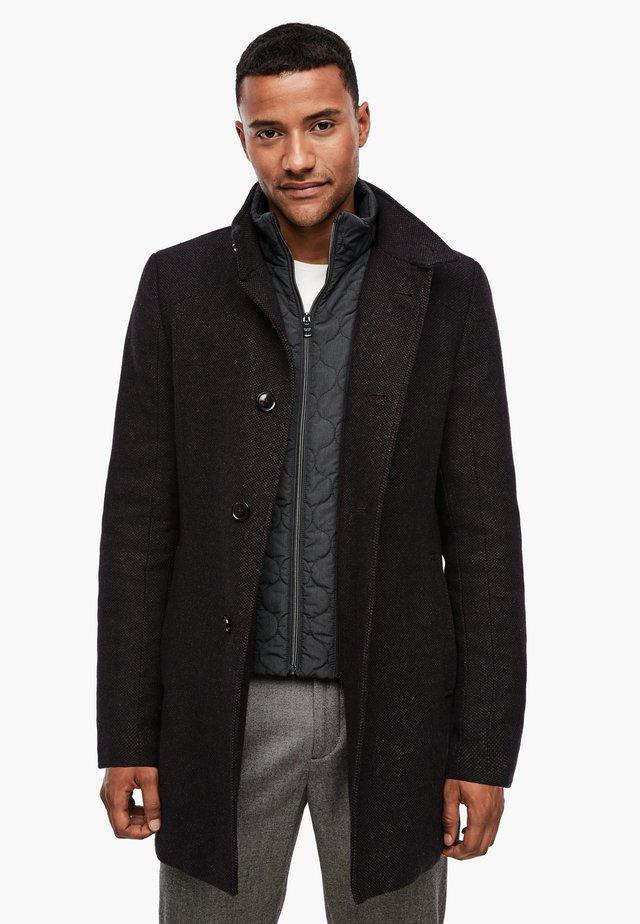 Halflange jas - brown melange