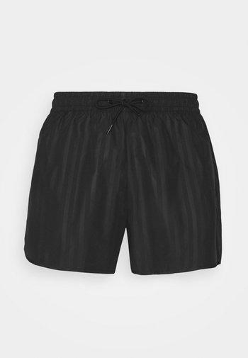 TONAL STRIPE  - Shorts - black