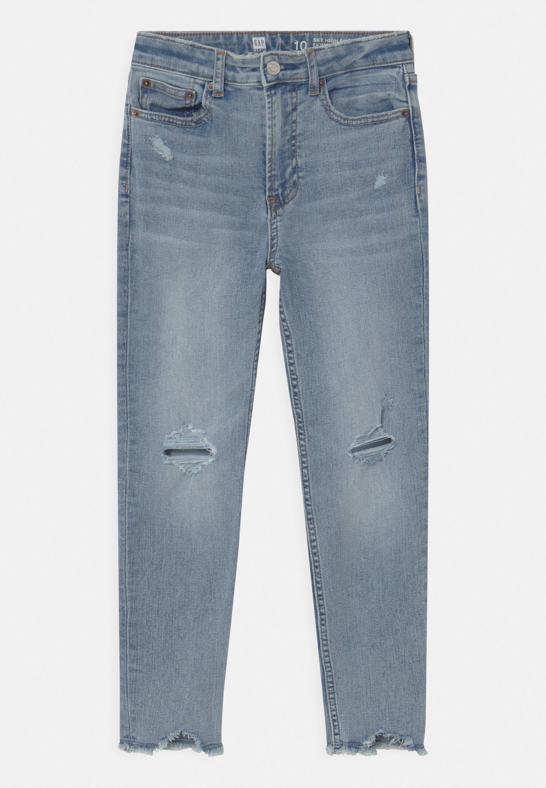 Enfant GIRL UNEVEN FRAYTEEN - Jeans Skinny