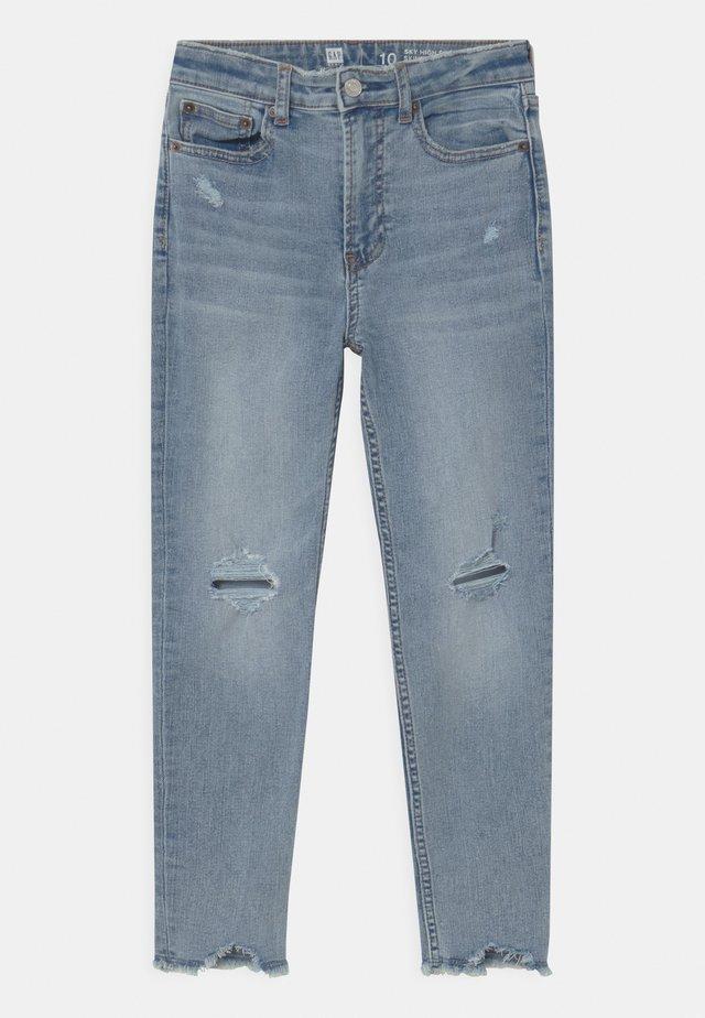 GIRL UNEVEN FRAYTEEN - Jeans Skinny Fit - light-blue denim