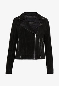 Vero Moda - VMROYCESALON SHORT JACKET - Leather jacket - black - 4